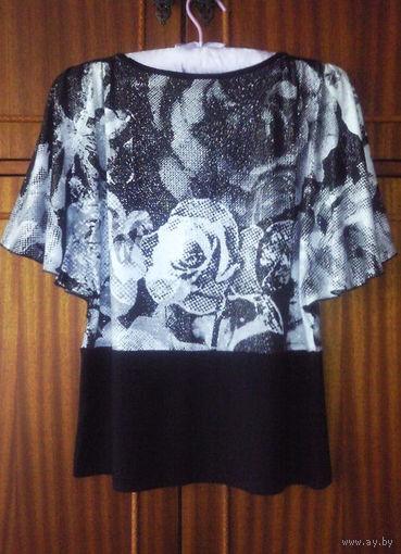 Топ/блуза с цветочным принтом
