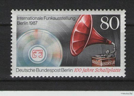 Западный Берлин 1987г. Mi N 787** 100 лет Пластинке