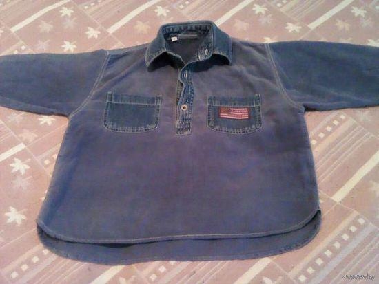 Рубашка детская вельветовая