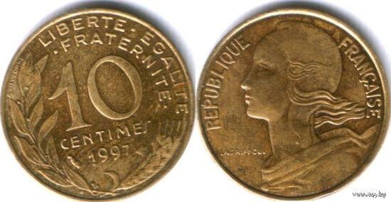ФРАНЦИЯ 10 сантимов 1997г. распродажа