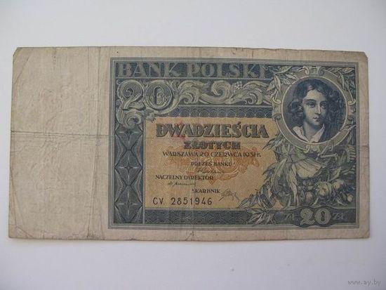 Польша    20 zl. 1931