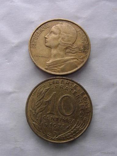Франция 10 сентим 1978г. распродажа