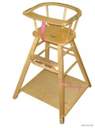 Деревянный cтульчик и столик для кормления.выпущен в 2016 г