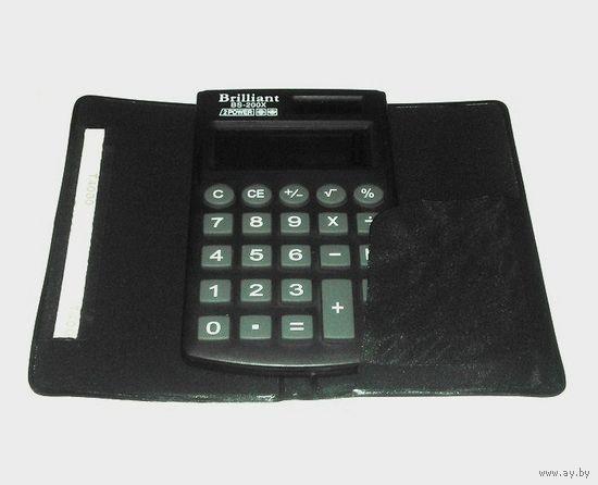 Электронный калькулятор Brilliant BS-200X. Комплект: коробка, чехол.