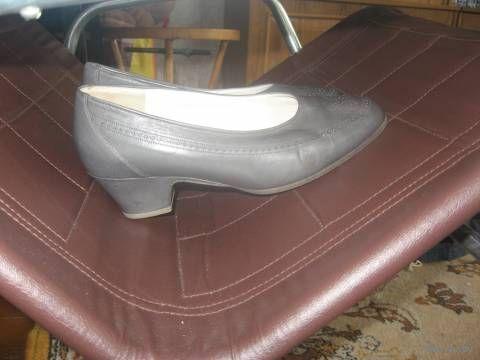Модно-серого цвета туфли на крепкой подошве. Германия р.39