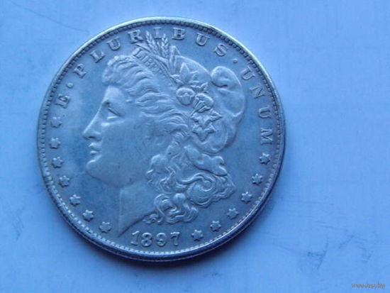 США. 1 доллар 1897г. No1 (копия) распродажа.