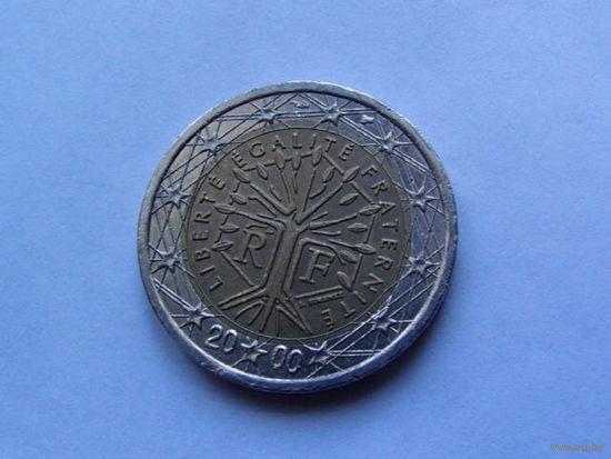 Франция 2 евро 2000г.  распродажа