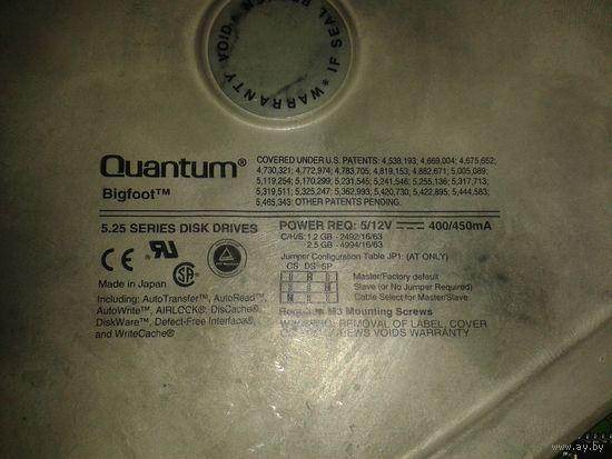 Жесткий диск. Винчестер. Quantum Bigfoot 5.25 1.2G