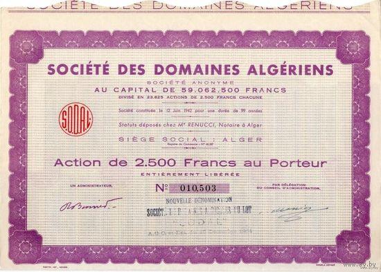 Societe des domaines Algeriens, 1942 г., Алжир, Общественные владения в Алжире