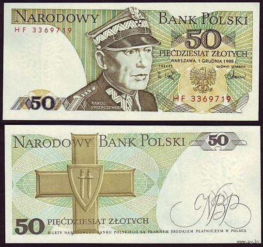 Польша. 50 Злотых - 1988 г. UNC - пресс   распродажа