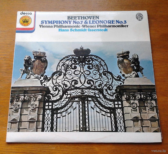 Beethoven. Symphony No. 7 & Leonore No. 3 - Vienna Philharmonic, Hans Schmidt-Isserstedt, LP 1977
