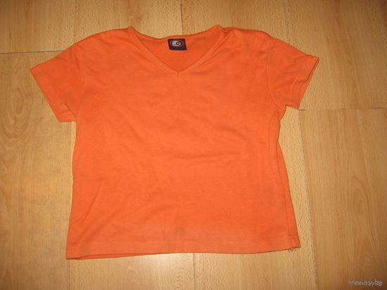 Оранжевая футболка 12-15 лет