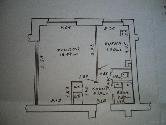 Квартира однокомнатная в Осиповичах. Цена договорная.