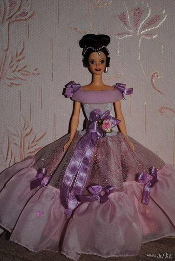 """Продам новое ПЛАТЬЕ для куклы Барби: """"Пепельная РОЗА"""" - машинный самошив, сидит весьма аккуратно. Сама кукла, как и её головной убор в стоимость не входят. Пересыл по почте платный!"""