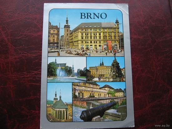 Открытка города Брно Чехословакия