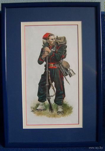 Акварель-солдат.