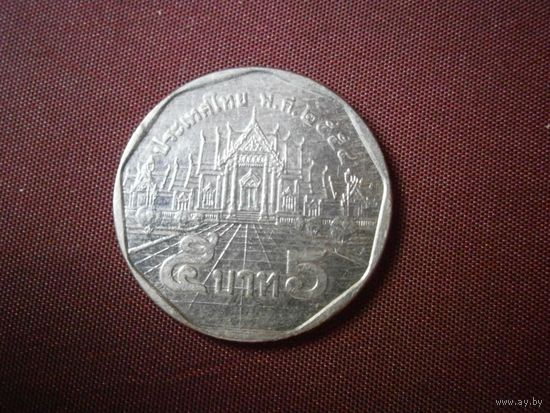 Таиланд 5 бат нового образца 2011 год