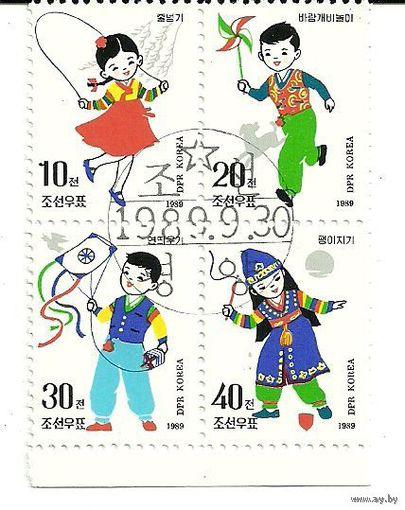 Детские игры. КНДР 1989 г. (Корея)