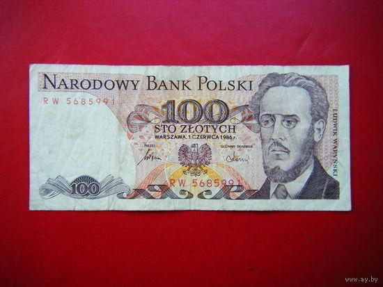 100 злотых 1986г.