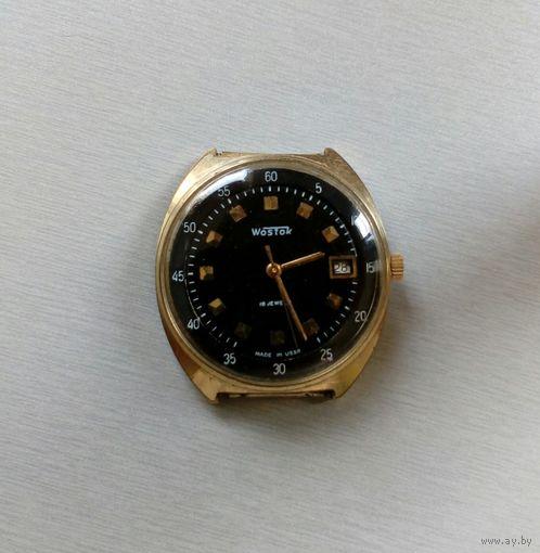 """Часы мужские наручные """"Wostok"""" Made in USSR(позолота 10 мкм)"""