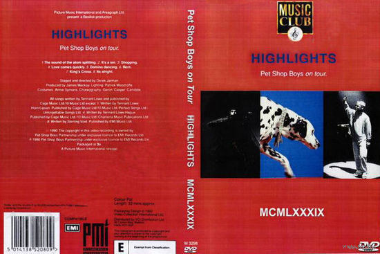 PET SHOP BOYS - Highlights tour (1989) (Derek Jarman)  DVD5