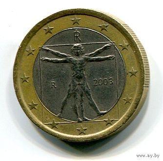 Италия 1 евро 2003г. биметалл   распродажа
