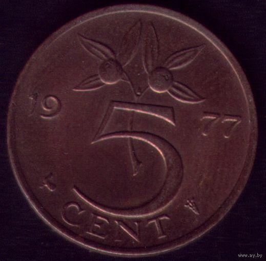 5 центов 1977 год Нидерланды