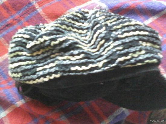 Стильная шапочка с шарфиком