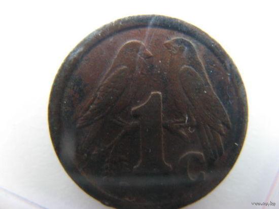 ЮАР 1 цент 1991г.