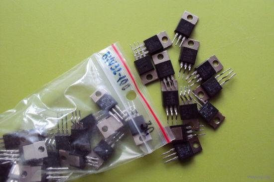 Диод ультрабыстрый BYV32-100 (Сдвоенный с ОК; 2x10A; 100V; 35 nS)