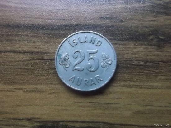 Исландия 25 эйре 1958