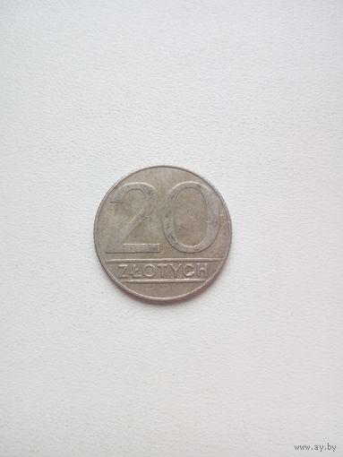 20 злотых 1990г. Польша