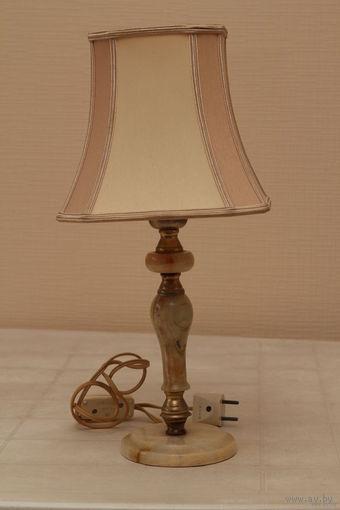 Лампа настольная,старинная, Голландия ,натуральный оникс