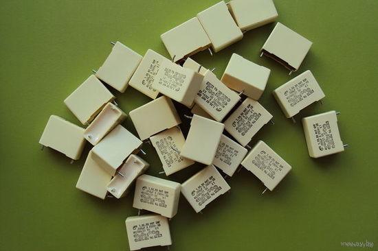 Конденсаторы помехоподавляющие 0,068uF х ~250V (применяются во входных цепях, сетевых фильтрах)
