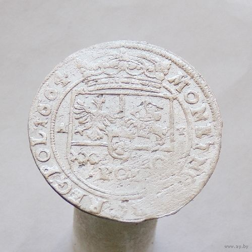 30 грошей (Тымф) 1664 Ян Казимир Ваза