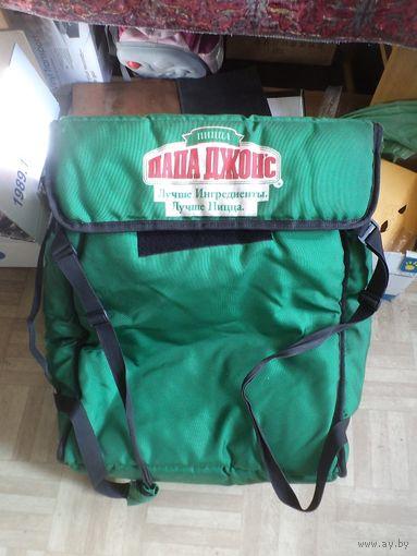 Большая(50*50*25 см) термосумка-рюкзак Пицца Папа Джонс.
