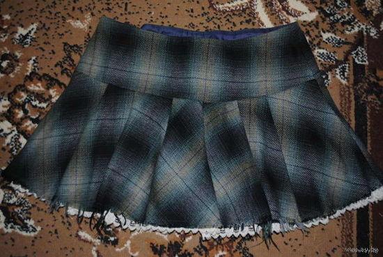 """Оригинальная женская Юбка_{на подкладке, можно, как для сезона Весна/Осень}_из уникальной Шведской коллекции_от фирмы_""""DIVIDED""""_размер_42/44-(M/L)-Состояние новой вещи-!"""