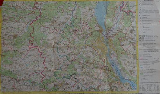 Карта Окрестности Киева 1990