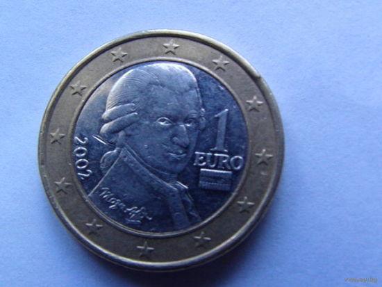 Австрия 1 евро 2002г.  распродажа