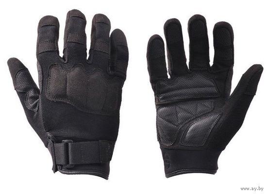 Тактические перчатки Hand Crew длинные пальцы черные