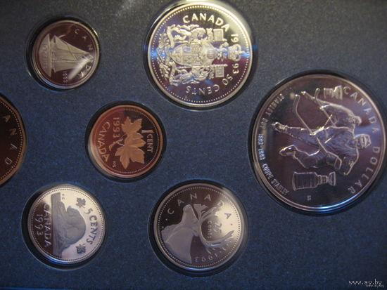 Комплект 1 цент - 1 доллар (набор) серебро. Есть наборы 1993, 1992, 1991, 1989, 1986гг