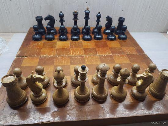 Шахматы, утяжеленные. Старые, советские. Дерево