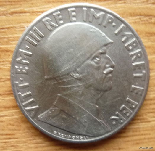Албания.  1 лек 1939г.
