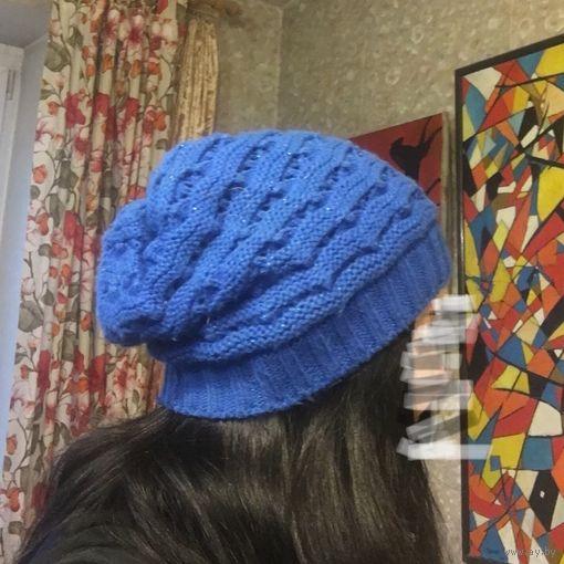Шапка синяя
