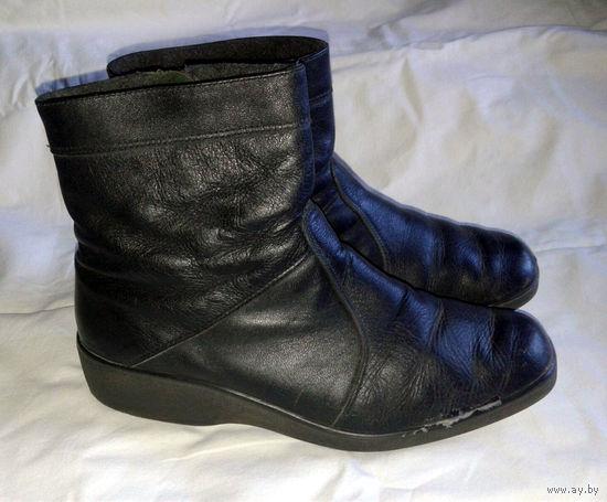 Полусапожки, ботинки осенние на молнии фирмы Марко на проблемные ноги, р.42, полнота 10 (на полную ногу и высокий подъем, натуральная кожа