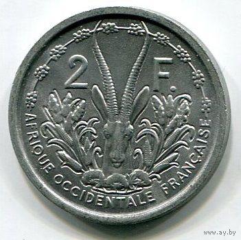 ФРАНЦУЗСКАЯ ЗАПАДНАЯ АФРИКА - 2 ФРАНКА 1948