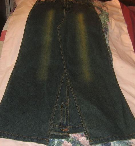 Стильная  джинсовая юбка р-р 42-44. Франция.