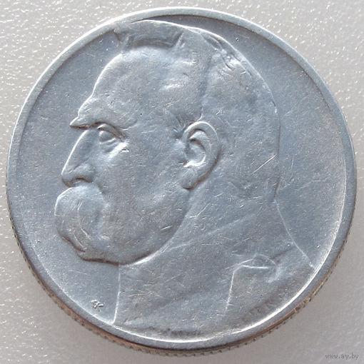 Польша, 2 злотых/ 2 Zlotych 1934 года, Юзеф Пилсудский, Y#27, серебро 750 пробы/ 4,4 грамма