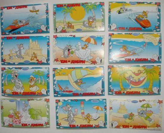 """Киндер карточки К-Артель к серии """"Том и Джери""""(цена за 12 шт) из личной коллекции"""