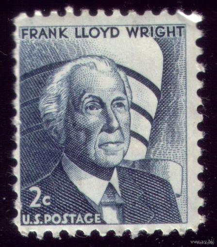 1 марка 1966 год США Ф.Ллойд